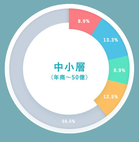 中小層(年商~50億)