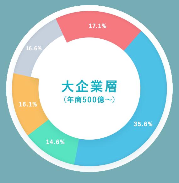 大企業層(年商500億~)